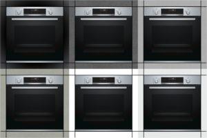 廚房必備BOSCH嵌入式大烤箱於不同牆面的示意圖